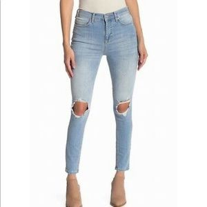 Free People Women's Distressed Skinny Stretch Jean